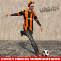 3ds max freestyle soccer player