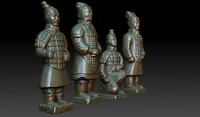 soldiers army 3d obj