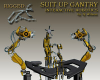 suit gantry 3d max