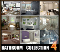 3d bathrooms scenes model