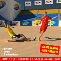 beach soccer games 3d max
