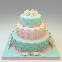 3d wedding cake 03 model