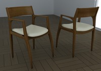 3d chair carlos rossi model