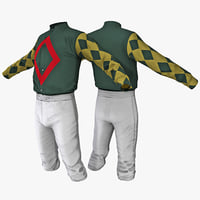 jockey clothes 3 3d model