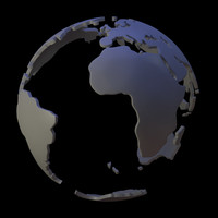 3d land earth model