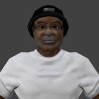 3ds human black man