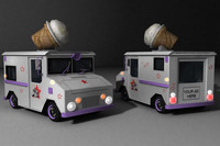 3d model icecream truck