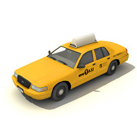 new york taxi car 3d max