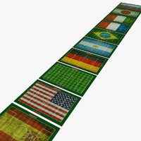 football field countries 3d model