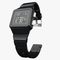 3d model digital adidas watch