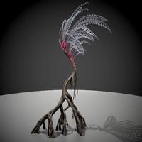 3d alien fern model