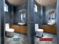 max bathroom scene