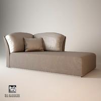 3d model fendi amore chaise