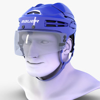 3d model hockey helmet bauer 9900