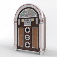 jukebox modelled 3d model