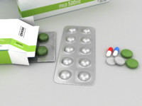 3ds max medicines pills