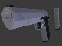 pistol weapon blend
