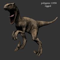 dinosaur velociraptor 3d model