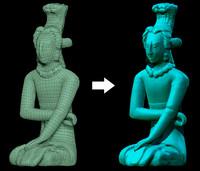 maya figure palenque replica
