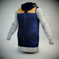 3d winter jacket model