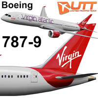 3ds max boeing 787-9 virgin