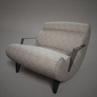 c4d fashion armchair
