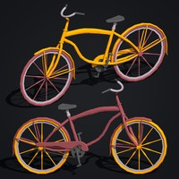c4d cartoon bicycle