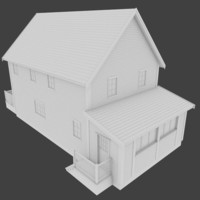 3d model of residential home exterior