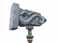 3d model unholy hammer
