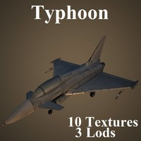 3d model eurofighter typhoon