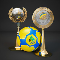 3d football trophy cup