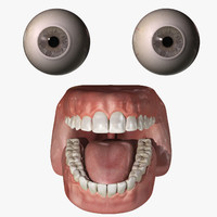 3d rigged eyes mouth combo model