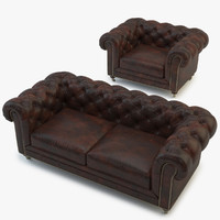 chesterfield sofa 3d max