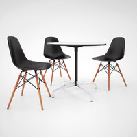3d model vitra dsw chair eames