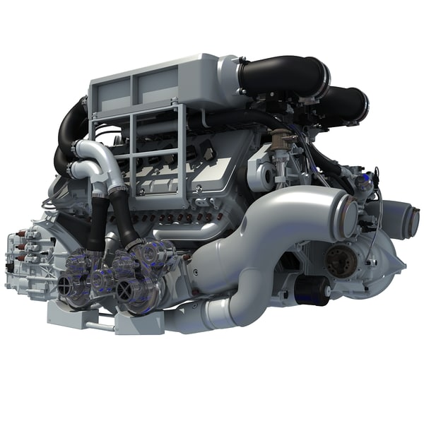 bugatti veyron w16 engine 3d 3ds. Black Bedroom Furniture Sets. Home Design Ideas