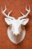 3d wall-mounted deer head model