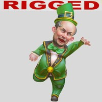rigged cartoon man(Leprechaun)