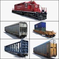Cargo Train SD-40 - 2