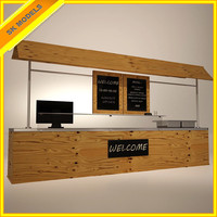 food stand 3d model