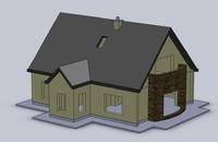 3d model printable house