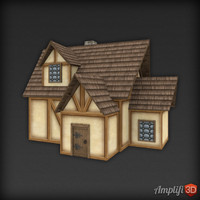 Low Poly Medieval House 03
