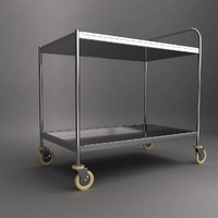 medical instrument trolley 3d model
