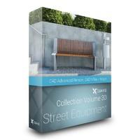 3d model street equipment