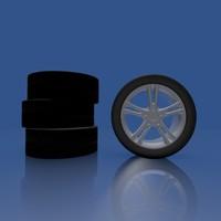 3d wheel rims model