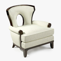 3d model barbara grace lounge chair