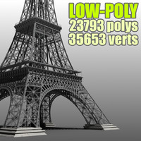 3d low-poly polys model