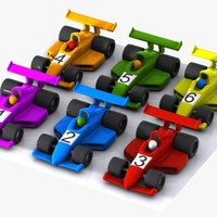 cartoon racing car 3d max
