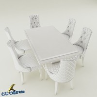 dining table set furniture 3d 3ds
