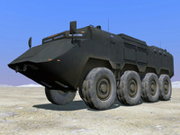 3dsmax 8x8 asv security vehicle