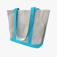 canvas tote bag 3d 3ds
